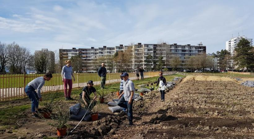 En avril, des chantiers participatifs ont permis d'affiner le projet. PHOTO:VILLE DE LAUSANNE