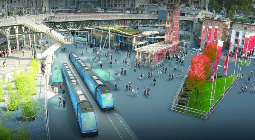 Malgré les oppositions, le tram Lausanne-Renens devrait voir le jour dans les cinq ans.  DR/PHOTOMONTAGE