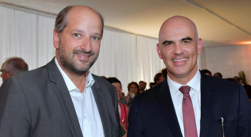 Le conseiller fédéral Alain Berset a fait le déplacement pour l'occasion, ici en présence de Grégoire Junod, syndic de Lausanne