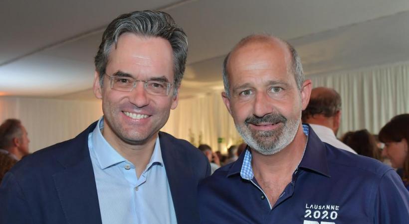 Ian Logan directeur général des Jeux Olympiques de la Jeunesse 2020 et Olivier Feller, conseiller national PLR