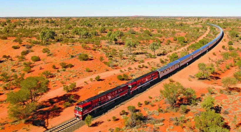 The Ghan est le nom donné à l'express du désert australien. DR