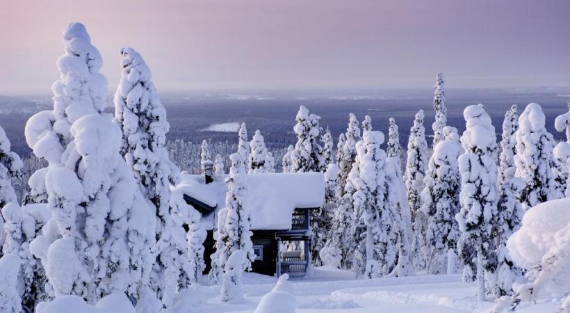 Photogénie de l'hiver lapon.