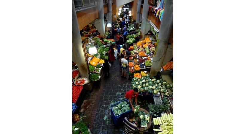 Le marché couvert de Port-Louis, capitale de l'Ile Maurice.