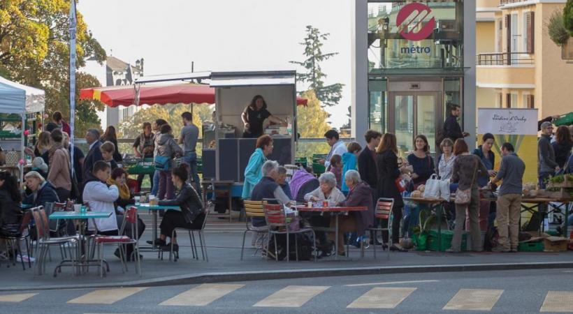 Le boulevard de Grancy, un lieu convivial et de découvertes. DR