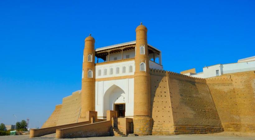 La place monumentale du Régistan, à Samarcande, l'une des plus belles au monde.