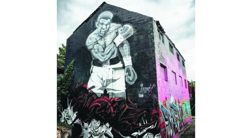 Louisville, ville natale de Mohamed Ali et le lieu de fabrication de la batte de baseball Louisville Slugger.
