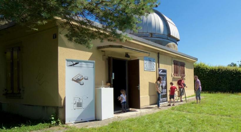 Pour le grand public, la Société vaudoise d'astronomie organise des soirées d'observation hebdomadaires et lors de phénomènes spéciaux des conférences et des visites scolaires. Ci-dessous, le plan du futur observatoire. DR