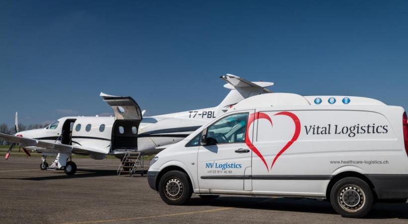 28 mars 2019: décollage du 1er vol test depuis la Blécherette vers la Grande Bretagne. DR