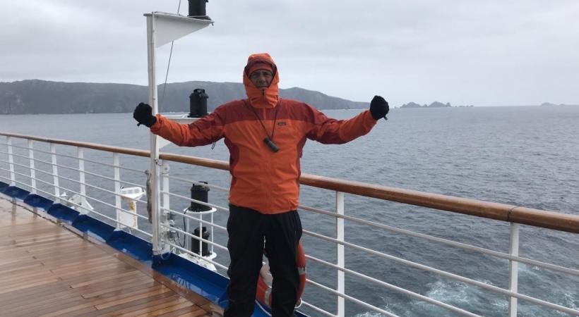Olivier Racine franchit le Cap Horn à bord du «Princess star». DR