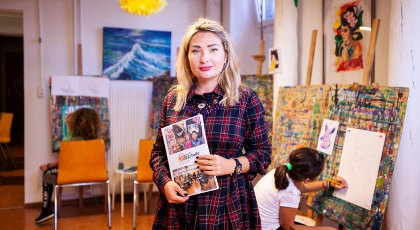 Marie Thüler, directrice et fondatrice de l'école d'arts Art'itude, à Ecublens. MISSON