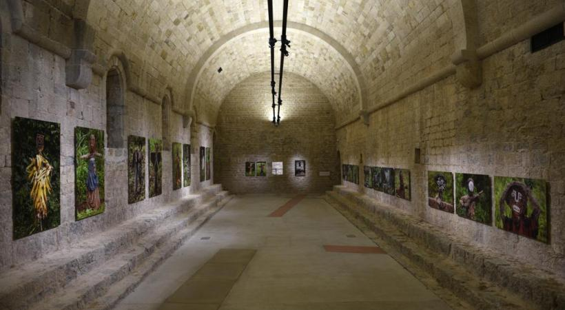 L'Abbaye de la Celle, ancien monastère bénédictin du XIe au XIVe siècle, accueille l'exposition temporaire d'Hans Silvester.