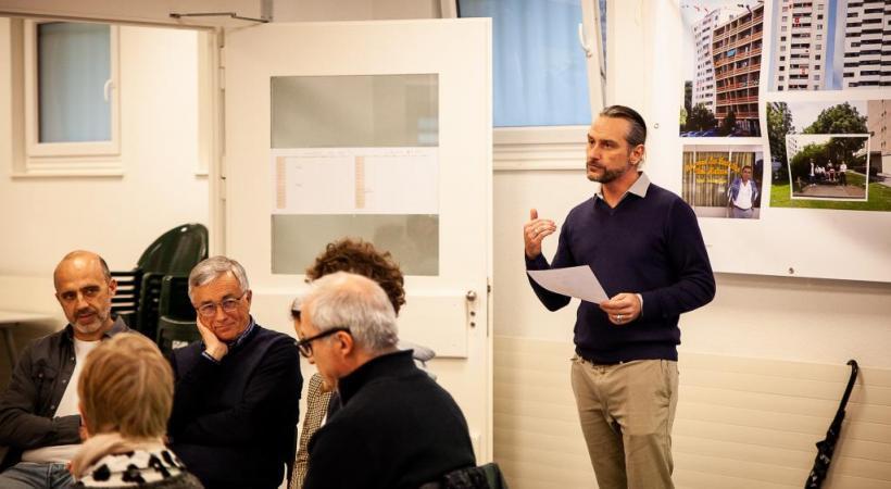 Alain Plattet, chef de service de la cohésion sociale, durant la plateforme du 25 février. MISSON