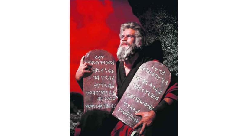 Charlton Heston, dans les Dix Commandements.