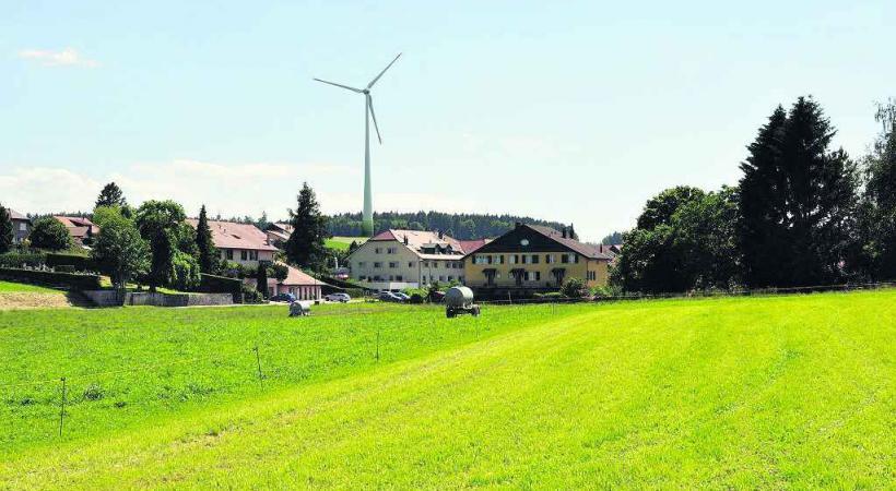 Un grand nombre d'habitants du Jorat ne veulent pas d'éolienne à proximité de leur village.