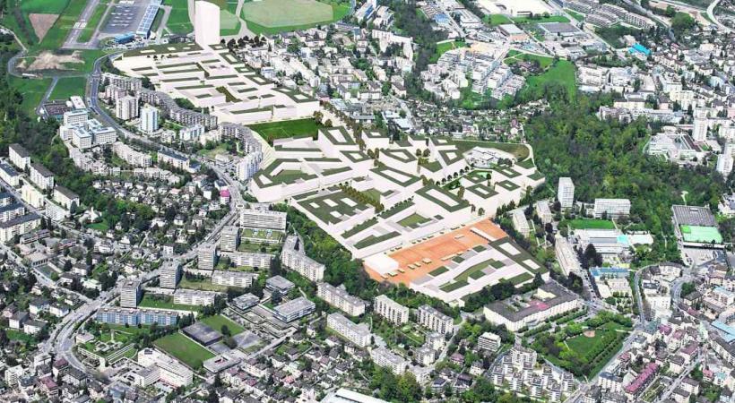 Le projet d'écoquartier des Plaines-du-Loup.