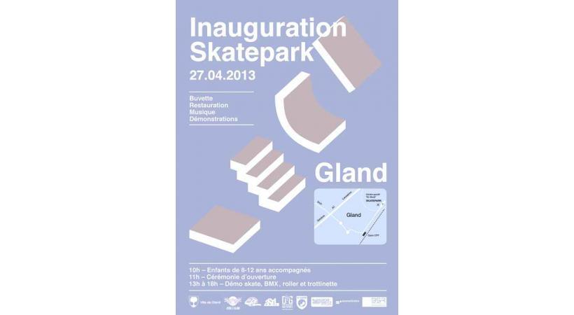 GLAND - Inauguration du Skate-park