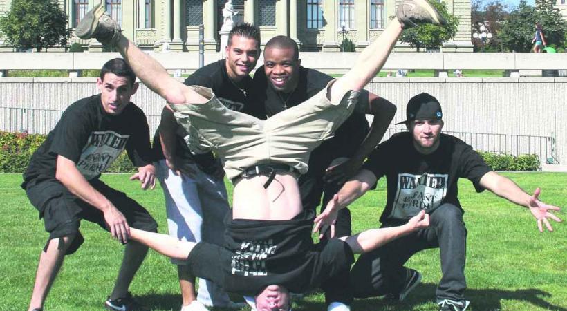 l'équipe de Breakdance lausannoise des Enfants Perdus