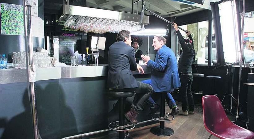 Une agence de pub et des employés déjantés: les ingrédients de la réussite. Les comédiens Gabriele Bazzichi (à gauche) et Laurent Baier (à droite) en plein tournage.
