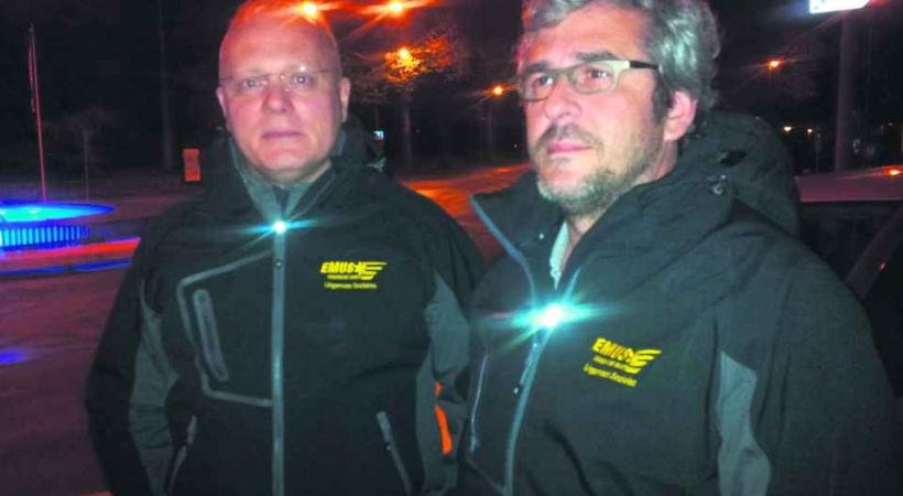 Robert et Bertrand, les deux coéquipiers de l'EMUS.