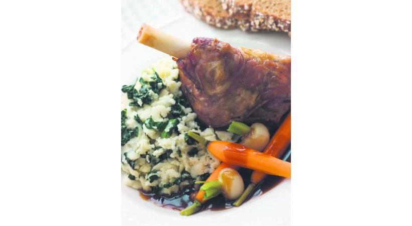 Le gigot d'agneau revisité au miel et au romarin.