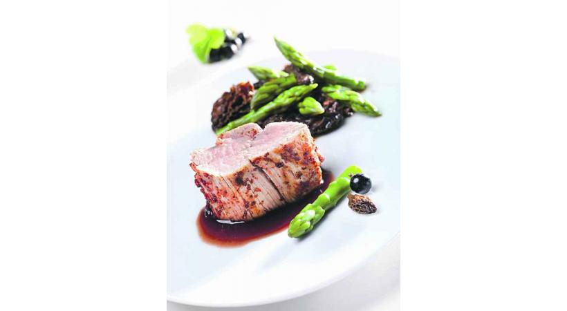 Filet de veau moutarde et cassis